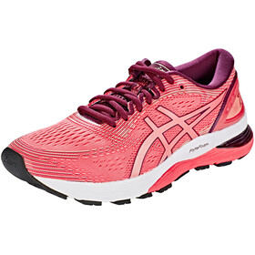 asics Gel-Nimbus 21 Shoes Women, pink cameo/bakedpink